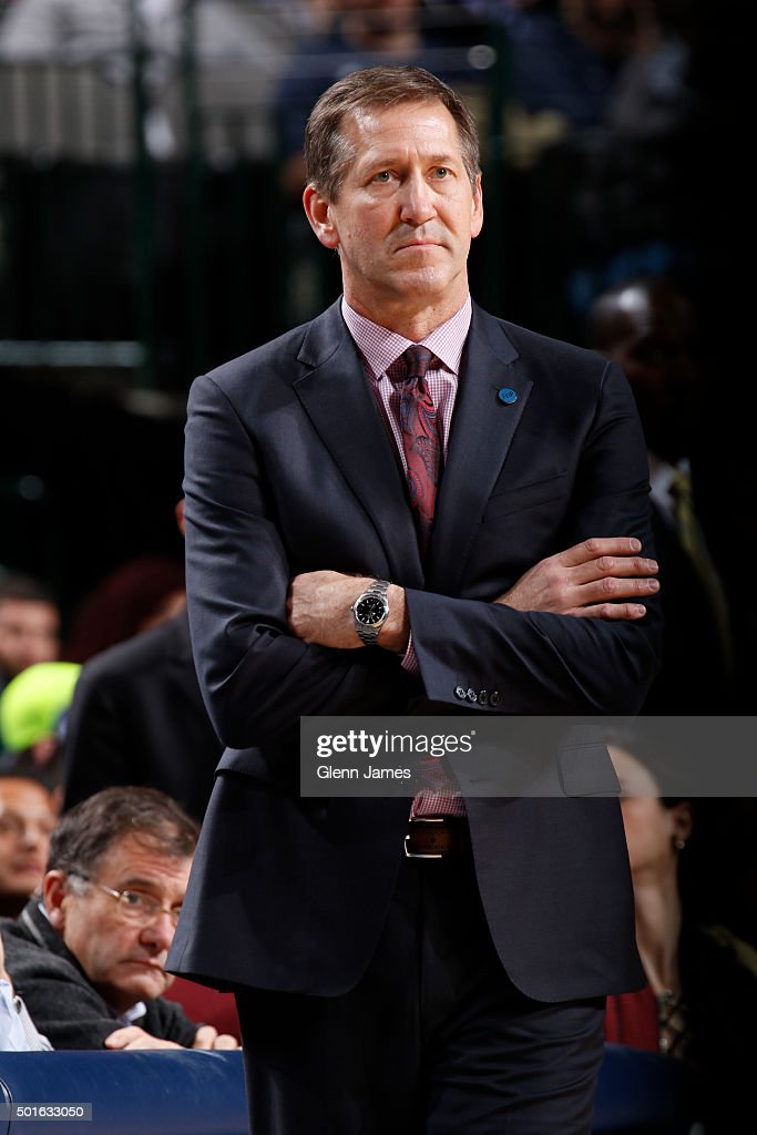 Jeff Hornacek of the Phoenix Suns coachesagainst the Dallas Mavericks on December 14 2015 at the American Airlines Center in Dallas Texas NOTE TO...
