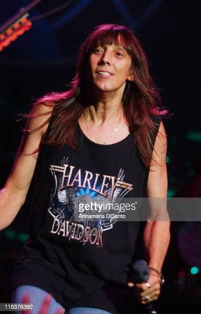 Jeff Keith lead singer of Tesla during Tesla on 'Rock Never Stops' Tour 2002 at Visalia Convention Center in Visalia California United States