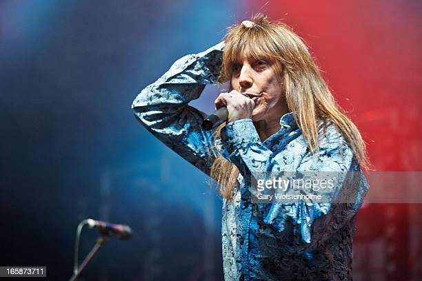 Jeff Keith of Tesla performs on Day 1 of Hard Rock Hell on April 6 2013 in Rotherham England