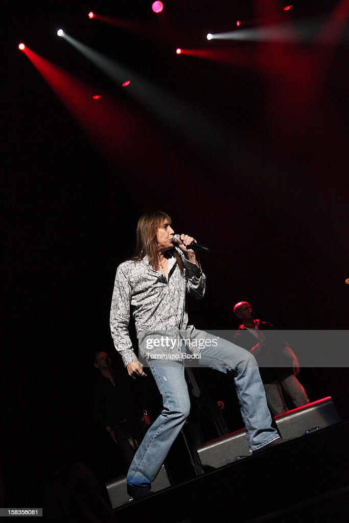 Jeff Keith of Tesla performs with the KLOS All Star Band at the 95.5 KLOS Christmas Show held at Nokia Theatre L.A. Live on December 13, 2012 in Los Angeles, California.