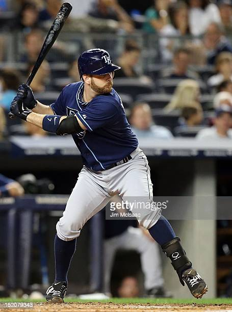 Jeff Keppinger of the Tampa Bay Rays in action against the at Yankee Stadium on September 14 2012 in the Bronx borough of New York City The Rays...