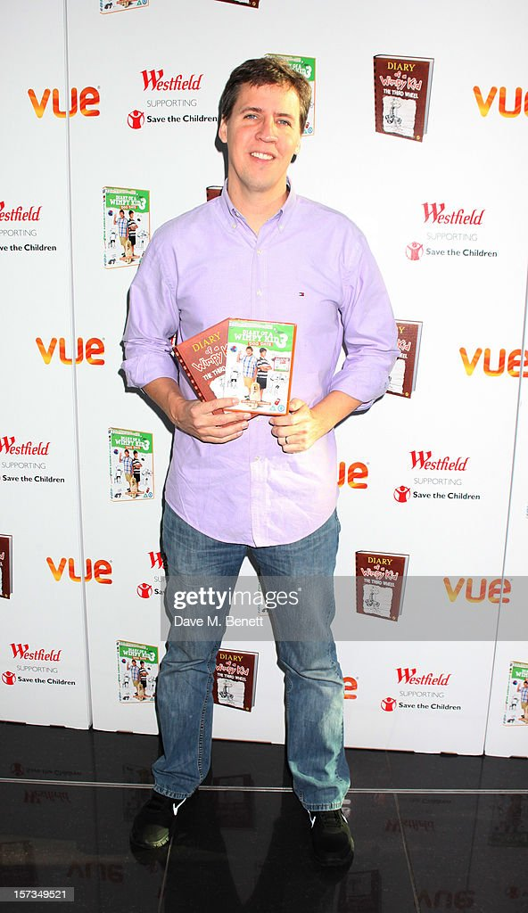 Jeff Kinney attends 'Diary of a Wimpy Kid' UK dvd Premiere at Vue Westfield on December 02, 2012 in London, England.