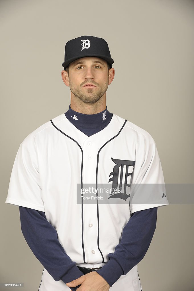 Jeff Kobernus #46 of the Detroit Tigers poses during Photo Day on February 19, 2013 at Joker Marchant Stadium in Lakeland, Florida.