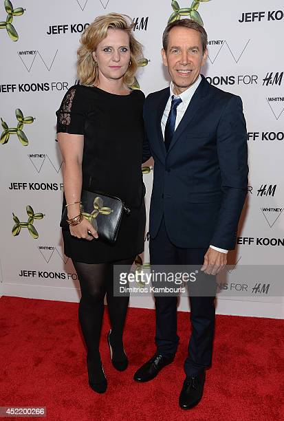 Jeff Koons and guests attend the HM Flagship Fifth Avenue Store launch event at HM Flagship Fifth Avenue Store on July 15 2014 in New York City