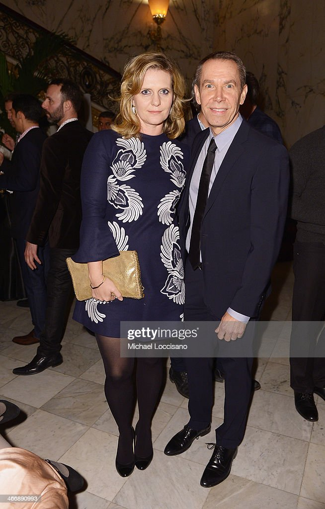 <a gi-track='captionPersonalityLinkClicked' href=/galleries/search?phrase=Jeff+Koons&family=editorial&specificpeople=220233 ng-click='$event.stopPropagation()'>Jeff Koons</a> (R) and wife Justine Koons attend the after party following the 'Monuments Men' premiere at The Metropolitain Club on February 4, 2014 in New York City.