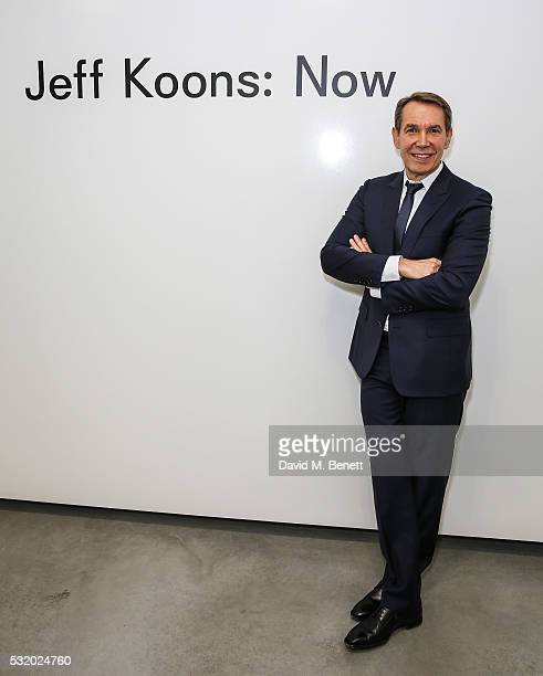 Jeff Koons attends a private dinner for Jeff Koons hosted by Damien Hirst at Newport Street Gallery on May 16 2016 in London England