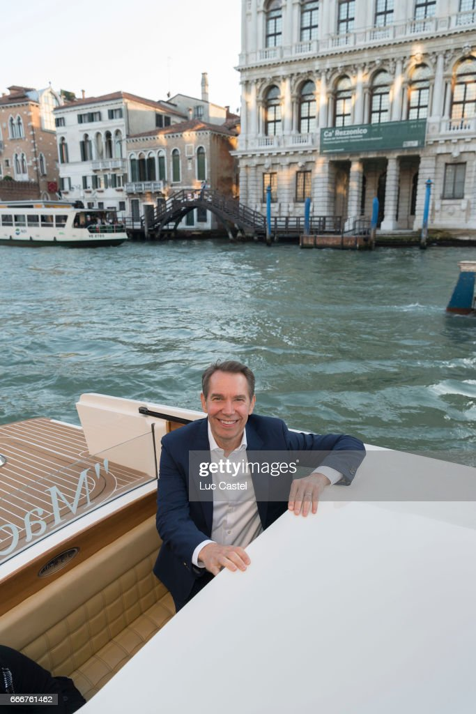 Jeff Koons attends the opening of Damien Hirst 'Treasures From The Wreck Of The Unbelievable' new exhibition on April 8, 2017 in Venice, Italy.