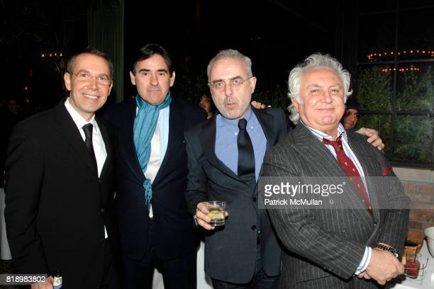 Jeff Koons Peter Brant Francesco Bonami and Tony Shafrazi attend After Party for Opening of SKIN FRUIT Selections from the Dakis Joannou Collection...