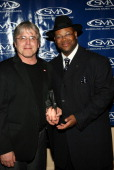 Jeff Levison and James 'Jimmy Jam' Harris during 2005 Surround Music Awards Press Room at Beverly Hills Hilton in Beverly Hills California United...