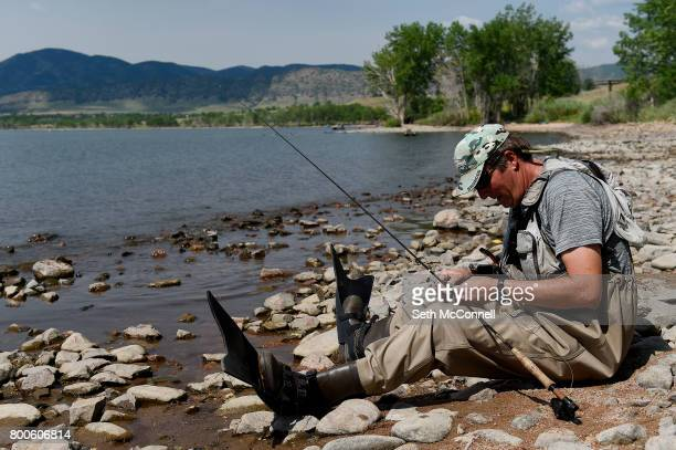 Jeff Lundgren prepares to fly fish at Chatfield Reservoir on June 22 in Littleton Colorado The Army Corp of Engineers has decided Chatfield Reservoir...