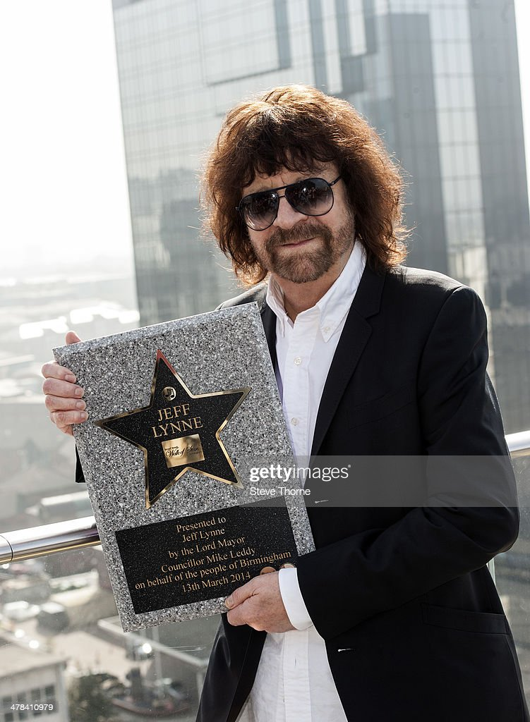 Jeff Lynne is presented with a star on the Walk of Stars at Birmingham New Library on March 13, 2014 in Birmingham, England.