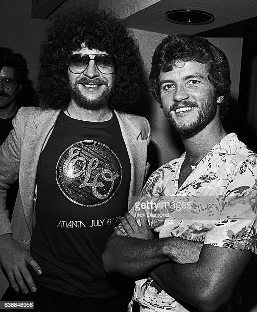 Jeff Lynne of ELO and guest attend press reception at the Peachtree Plaza in Atlanta Georgia July 06 1978