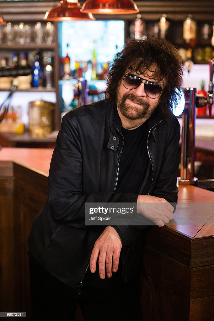 Jeff Lynne of ELO (Electric Light Orchestra) during a live broadcast of 'TFI Friday' on November 20, 2015 in London, England.