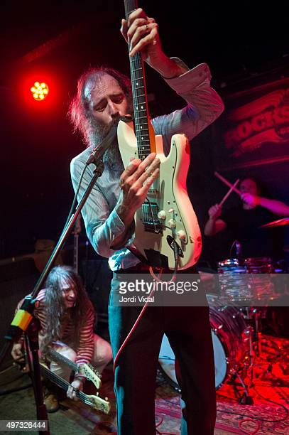 Jeff Mcelroy Ethan Miller and Brian Cantrell of Howlin Rain perform on stage at Rocksound on November 15 2015 in Barcelona Spain