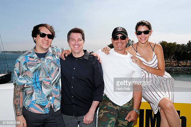 Jeff Negus Brian Horton Brian Bloom and Jamie Gray Hyder of Call Of Duty attend the IMDb Yacht at San Diego ComicCon 2016 Day Three at The IMDb Yacht...