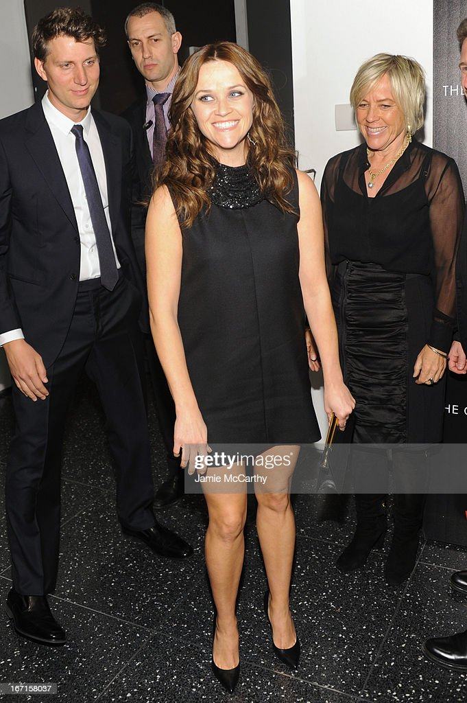 Jeff Nichols, <a gi-track='captionPersonalityLinkClicked' href=/galleries/search?phrase=Reese+Witherspoon&family=editorial&specificpeople=201577 ng-click='$event.stopPropagation()'>Reese Witherspoon</a> and Sarah Green attend the Cinema Society with FIJI Water & Levi's screening of 'Mud' at The Museum of Modern Art on April 21, 2013 in New York City.