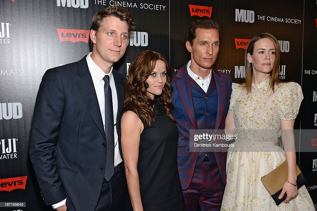 Jeff Nichols, Reese Witherspoon, Matthew McConaughey and Sarah Paulson attend the Cinema Society screening of 'Mud' at The Museum of Modern Art on April 21, 2013 in New York City.
