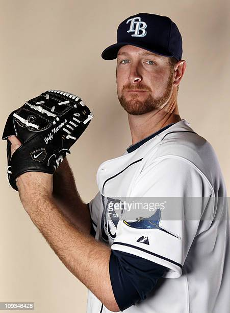 Jeff Niemann of the Tampa Bay Rays poses for a portrait during the Tampa Bay Rays Photo Day on February 22 2011 at the Charlotte Sports Complex in...