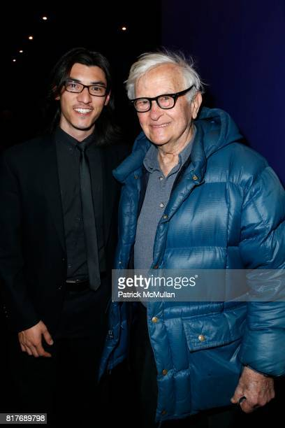 Jeff Orlowski and Albert Maysles attend Private Screening of CHASING ICE at The Cosby Hotel on December 19 2012 in New York