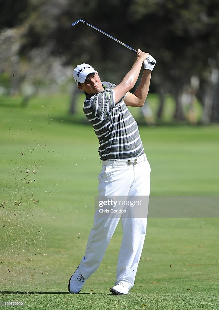 <a gi-track='captionPersonalityLinkClicked' href=/galleries/search?phrase=Jeff+Overton&family=editorial&specificpeople=2130533 ng-click='$event.stopPropagation()'>Jeff Overton</a> hits to the 3rd green during the third round of the Sony Open in Hawaii at Waialae Country Club on January 12, 2013 in Honolulu, Hawaii.