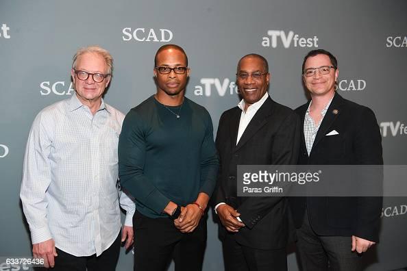 Jeff Perry Cornelius Smith Jr Joe Morton and Josh Malina attend 5th Annual aTVfest on February 3 2017 at Four Seasons Hotel in Atlanta Georgia