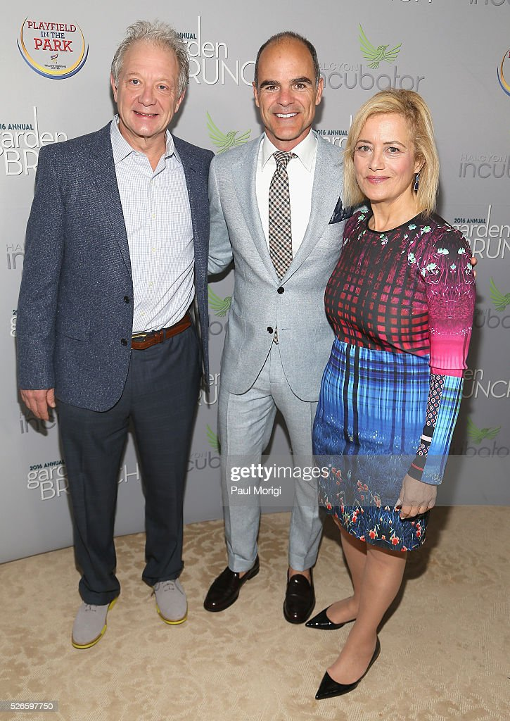 Jeff Perry, Michael Kelly and Hilary Rosen attend the Garden Brunch prior to the 102nd White House Correspondents' Association Dinner at the Beall-Washington House on April 30, 2016 in Washington, DC.