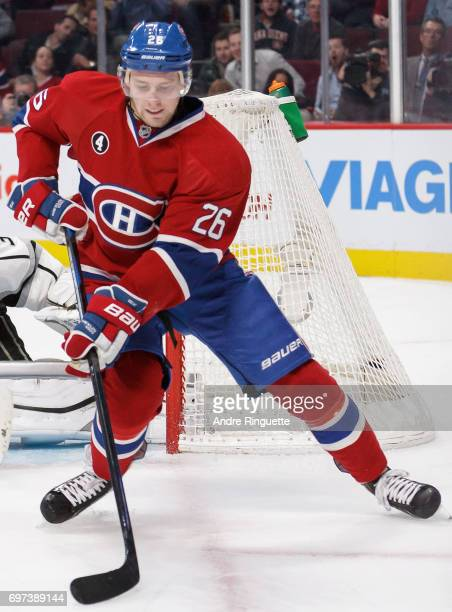 Jeff Petry of the Montreal Canadiens plays in the game against the Los Angeles Kings at the Bell Centre on December 12 2014 in Montreal Quebec Canada