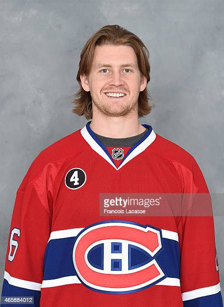 Jeff Petry of the Montreal Canadiens poses for his official headshot for the 20142015 season on March 9 2015 at the Bell Sports Complex in Brossard...