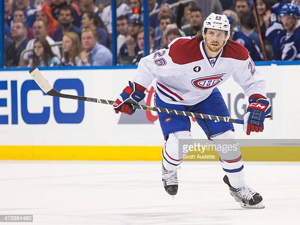 Jeff Petry of the Montreal Canadiens skates against the Tampa Bay Lightning in Game Three of the Eastern Conference Semifinals during the 2015 NHL...