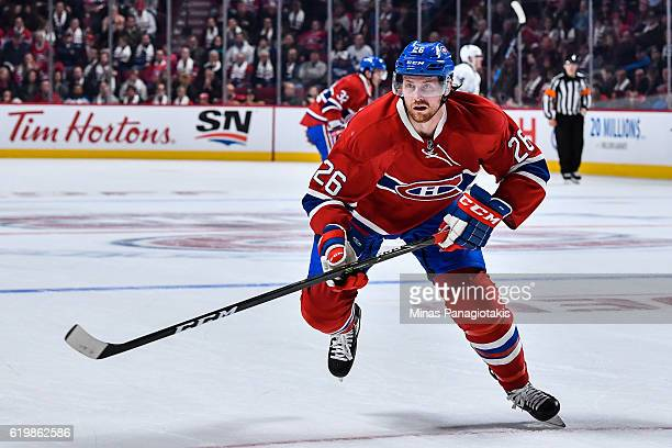 Jeff Petry of the Montreal Canadiens skates during the NHL game against the Toronto Maple Leafs at the Bell Centre on October 29 2016 in Montreal...