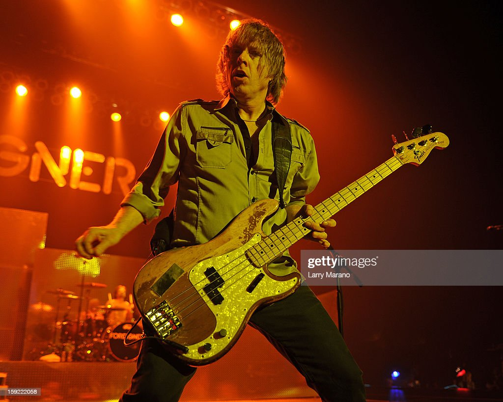 Jeff Pilson of Foreigner peforms at Hard Rock Live! in the Seminole Hard Rock Hotel & Casino on January 9, 2013 in Hollywood, Florida.