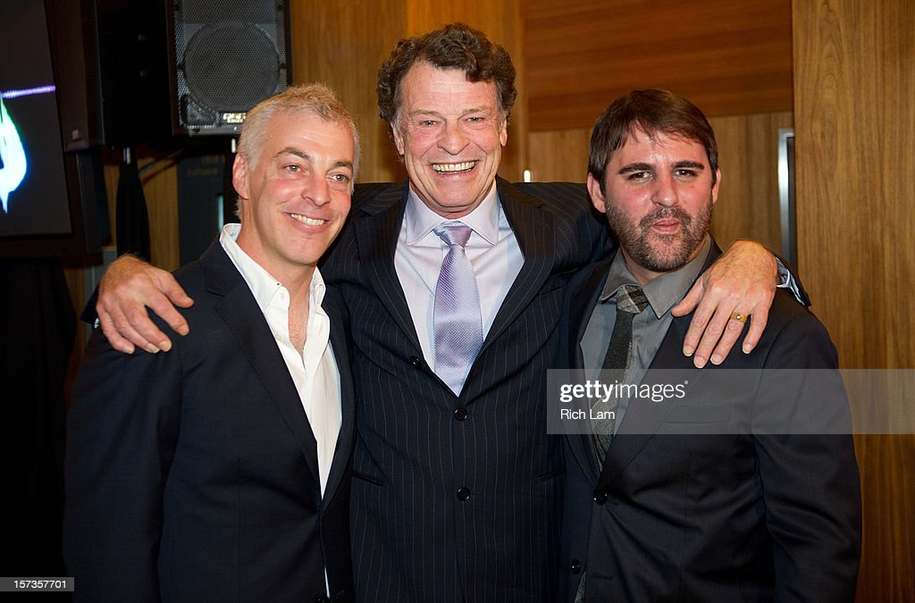 Jeff Pinkner, John Noble and Roberto Orci during 'Fringe' celebrates 100 episodes and final season at Fairmont Pacific Rim on December 1, 2012 in Vancouver, Canada.