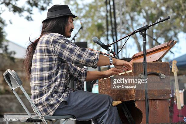 Jeff Prystowsky of The Low Anthem performs on stage playing a harmonium on Day 1 of Austin City Limits Festival 2009 at Zilker Park on October 2 2009...