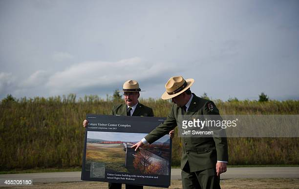 Jeff Reinbold superintendent of the National Park Service in Western Pennsylvania and Keith Newlin deputy superintendent of the Flight 93 al Memorial...