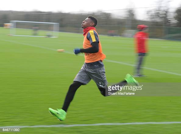 Jeff Reine Adelaide of Arsenal during a training session at London Colney on March 1 2017 in St Albans England