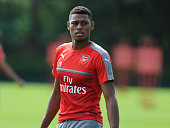 Jeff ReineAdelaide of Arsenal during a training session at London Colney on July 21 2016 in St Albans England
