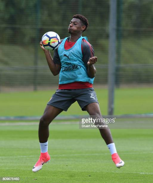 Jeff ReineAdelaide of Arsenal during a training session at London Colney on July 6 2017 in St Albans England