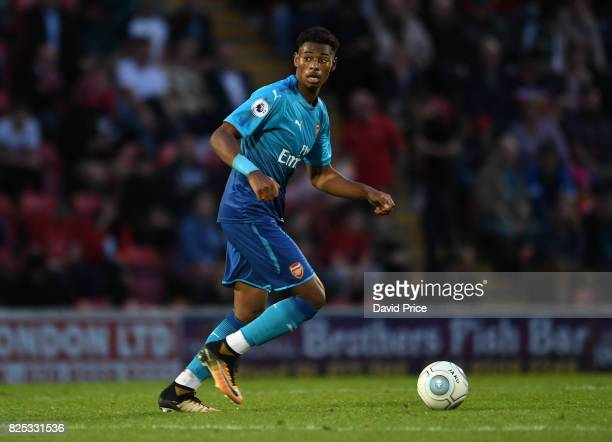 Jeff ReineAdelaide of Arsenal during the match between Leyton Orient and Arsenal U23 at Brisbane Road on August 1 2017 in London England