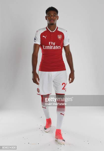 Jeff ReineAdelaide of Arsenal poses in a first team photocall at Emirates Stadium on August 3 2017 in London England