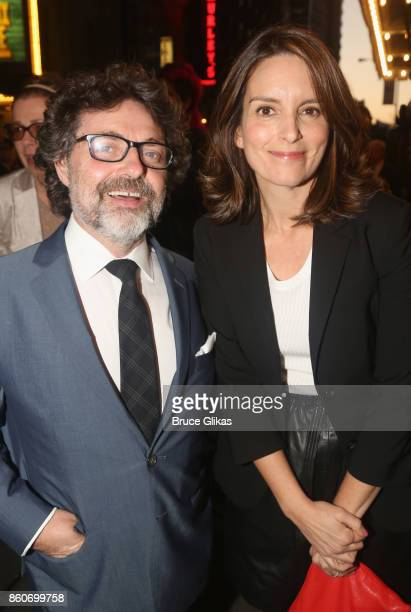 Jeff Richmond and Tina Fey pose at the opening night arrivals for 'Springsteen on Broadway' at The Walter Kerr Theatre on October 12 2017 in New York...
