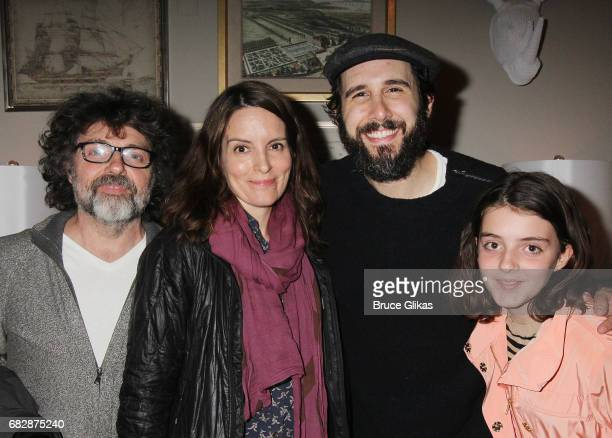 Jeff Richmond Tina Fey Josh Groban and Alice Zenobia Richmond pose backstage at the hit musical 'Natasha Pierre The Great Comet of 1812' on Broadway...
