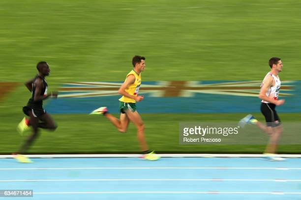 Jeff Riseley of Australia competes in mixed 3 minute challenge during the Melbourne Nitro Athletics Series at Lakeside Stadium on February 11 2017 in...