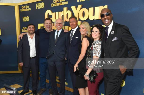 Jeff Schaffer Jeff Garlin Larry David Richard Plepler Cheryl Hines Susie Essman and JB Smoove attend 'Curb Your Enthusiasm' season 9 premiere at SVA...