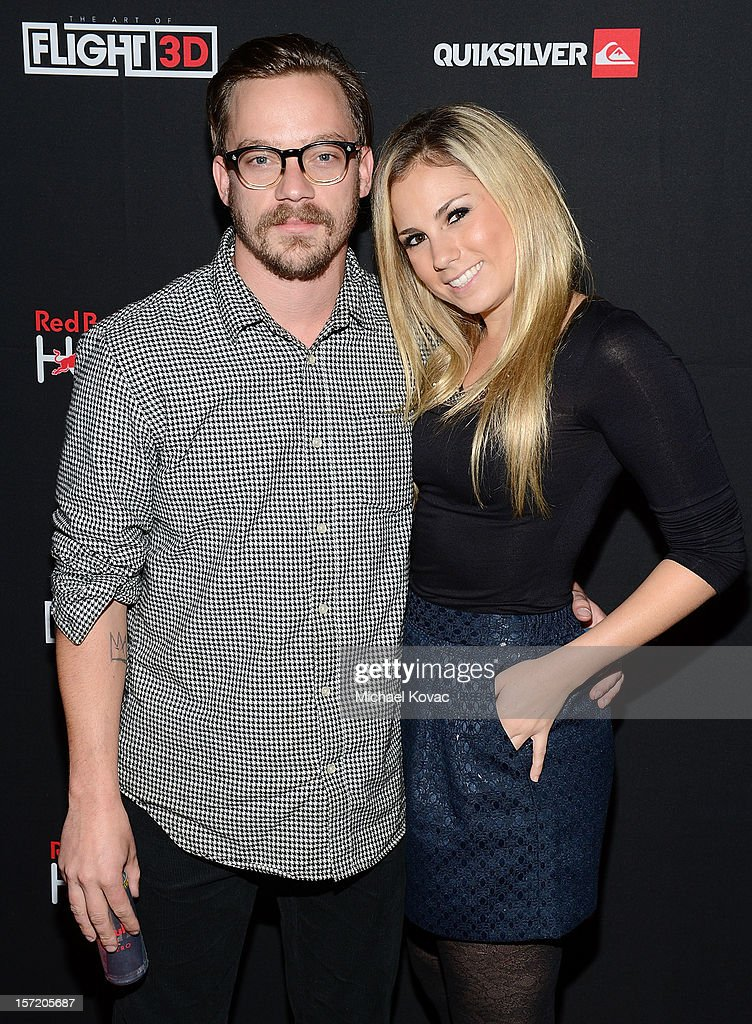 Jeff Schroeder and Jacqueline Stabile attend the Los Angeles Screening of The Art of Flight 3D at AMC Criterion 6 on November 29, 2012 in Santa Monica, California.