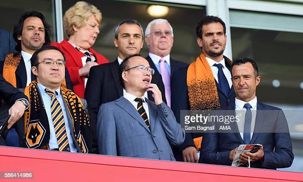 Jeff Shi of Fosun International Limited and Wolverhampton Wanderers Guo Guangchang the chairman of Fosun International Limited owner of Wolverhampton...