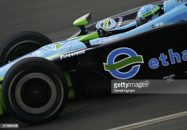 Jeff Simmons driving the Rahal Letterman Racing Ethanol Panoz Honda during practice for the IRL IndyCar Series Bridgestone Indy Japan 300 on April 21...