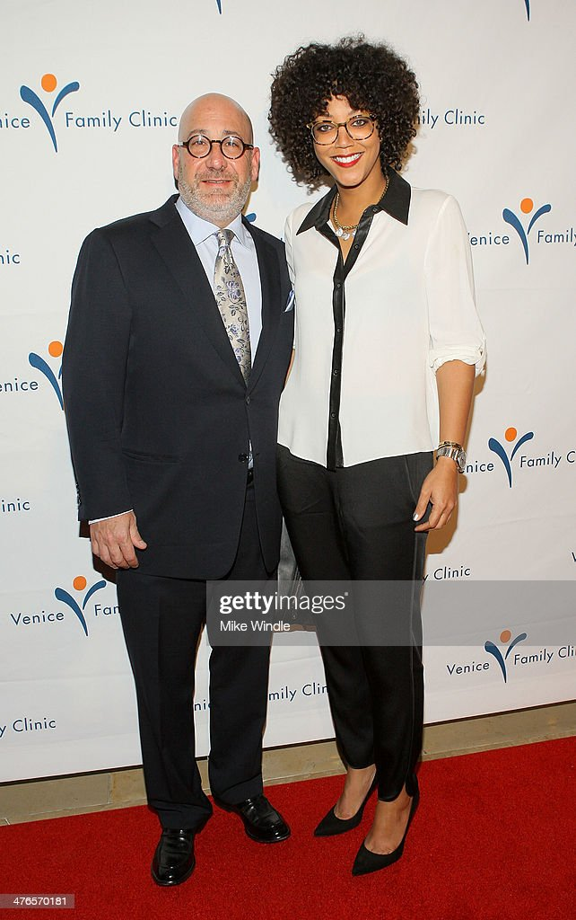 Jeff Sinaiko (L) and Kristal Oates attend the Venice Family Clinic's 32nd Annual Silver Circle Gala held at The Beverly Hilton Hotel on March 3, 2014 in Beverly Hills, California.