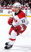 Jeff Skinner of the Carolina Hurricanes skates against the Anaheim Ducks on February 3 2015 at Honda Center in Anaheim California