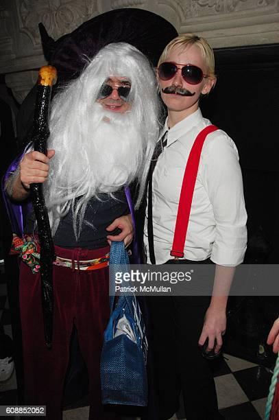Jeff Slonim and Melody Seiling attend V MAGAZINE Halloween Party at Rose Bar Gramercy Park Hotel NYC on October 31 2007