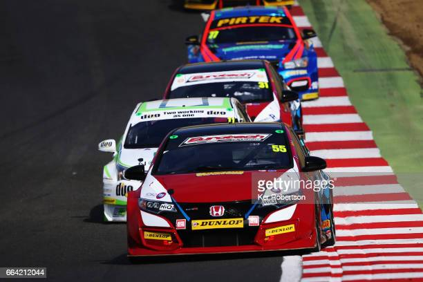 Jeff Smith of Eurotech Racing Honda drives during the Dunlop MSA British Touring Car Championship at Brands Hatch on April 2 2017 in Longfield England